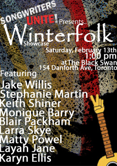 Songwriters Unite! Winterfolk 2010 Showcase